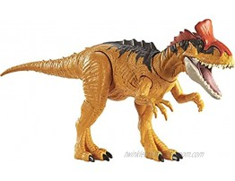 Jurassic World Sound Strike Cryolophosaurus Figure with Strike and Chomping Action Realistic Sounds Movable Joints Authentic Color and Texture; Ages 4 and Up