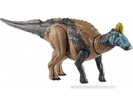 Jurassic World Sound Strike Edmontosaurus Figure with Strike and Chomping Action Realistic Sounds Movable Joints Authentic Color and Texture; Ages 4 and Up