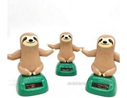 DEIHENG Solar Powered Dancing Sloth Toy Car Decoration Novel Solar Toy Anti-Stress Toy Fun Decoration Kids Gifts