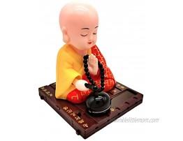 FLAMEER Solar Dancer Figure Toy,Buddhist Monk Solar Pal The President- Dancing Solar Toy Car Desktop Office Fun Toy 7x7x9cm 2.75x2.75x3.54inch Yellow