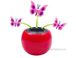 ink2055 Creative Plastic Solar Power Butterfly Car Ornament Flip Flap Pot Swing Kids Toy Novelty Desk Car Toy Ornament 8#