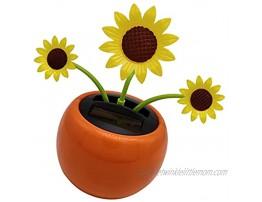 PREDA Solar Powered Dancing Sun Flower Sunflower Ornament Solar Toy for Kids Bee Insect Swing Toys for Office Car DashboardSun Flower