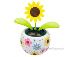 Solar Dancing Flower Sunflower Solar Powered Swinging Toys Decor for Car Active Ornaments for Home and Office with Double Sided Adhesive