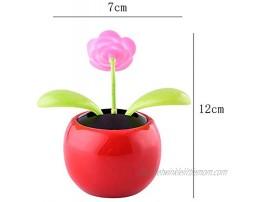 Zereff Solar Power Flip Flap Flower Sunflower Rose for Car Swing Dancing Flower Toy Car Interior Ornaments Car-Styling