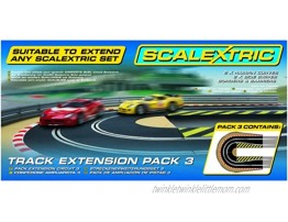 Scalextric C8512 Track Extension Pack 2x Hairpin Curves 2 Side Swipes Borders Barriers