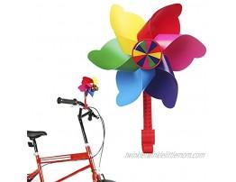 MINI-FACTORY Bike Handlebar Flower Pinwheel for Kids Spinning Pinwheel Decoration for Kid's Bicycle Easy Snap On