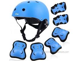PHZ. Kids Bike Helmet Toddler Helmet 3-14 Years Sport Protective Gear Set Knee Pads Elbow Pads Wrist Guards Boy Girl Adjustable Child Cycling Helmet