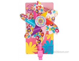 Ride Along Dolly Bike Handlebar Pinwheel Spinning Flower Pinwheel for Kid's Bicycle Snaps on for Easy Attachment