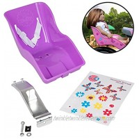 Ride Along Dolly Doll Bicycle Seat Bike Seat Purple with Decorate Yourself Decals Fits American Girl and Stuffed Animals