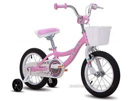 CYCMOTO 12 14 16 inch Kids Bike for Boys & Girls with Training Wheels,18 inch with Kickstand Toddler Bike with Basket & Handbrake Blue Pink Purple