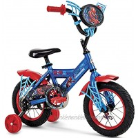 """Huffy Marvel Spider-Man 12"""" Kid's Bike for Toddlers – with Removable Training Wheels & Quick Adjust Seat Height"""