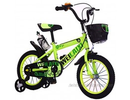 """JLFSDB Kids Bike BMX Bike for Kids Boys Girls Bicycle Kids Bike Children's Bicycle for 3-10 Years Old Boys Girls Toddler Pedal Bikes in Size 12""""14""""16""""18""""Inch with Stand Color : Green Size : 16''"""