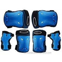 WYYYW Child Protective Gear 6 in 1 High Performance Breathable Wrist Guards Suitable for Skating Cycling Skateboarding Pads Set