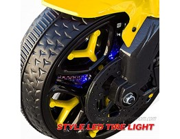 Children Riding Motorcycles; Three-Wheeled Motorcycle Toys; Electric Motorcycles with Headlights and Sound Effects Boys and Girls can Ride Realistic Sound Effects-Yellow