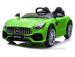 GIKPAL12V Kids Ride On Car Remote Control 2 Seater Car Rechargeable Battery Powered Ride On Vehicle Parental Remote Control and Foot Pedal Modes with Headlights Music and Built-in Horn Green
