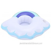 Jovenn Inflatable Floating Coasters Cloud and Rinbow Safety ABS Lightweight Inflatable Drink Holder for Pool Party for Hot Tubs