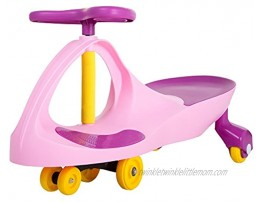 Lil' Rider Wiggle Car Ride On Toy – No Batteries Gears or Pedals – Twist Swivel Go – Outdoor Ride Ons for Kids 3 Years and UpPink and Purple M370049