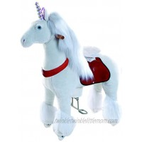 Smart Gear Pony Cycle White Unicorn Ride on Toy: 2 Sizes: World's First Simulated Riding Toy for Kids Age 3-5 Years Ponycycle Ride-on Small