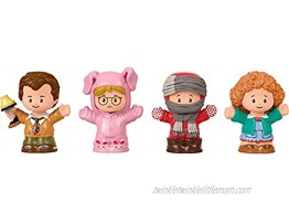 Fisher-Price Little People Collector A Christmas Story Special Edition Figure Set with 4 Characters from The Classic Holiday Movie