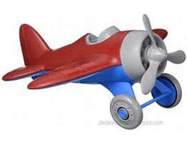 Green Toys Airplane Red Blue CB Pretend Play Motor Skills Kids Flying Toy Vehicle. No BPA phthalates PVC. Dishwasher Safe Recycled Plastic Made in USA.